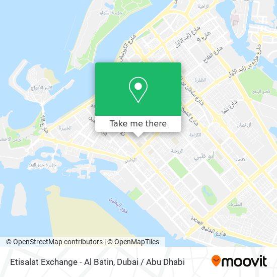 Etisalat Exchange - Al Batin map
