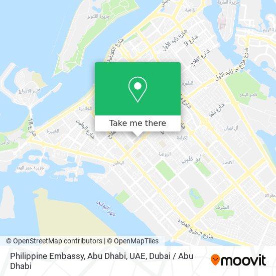 Philippine Embassy, Abu Dhabi, UAE map