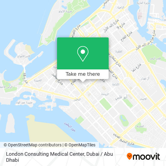 London Consulting Medical Center map