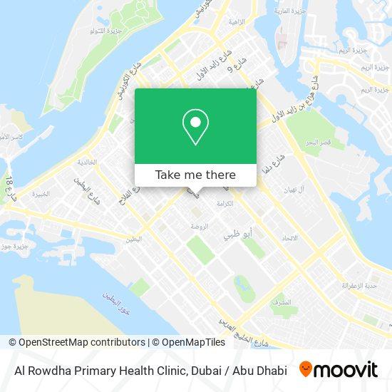 Al Rowdha Primary Health Clinic map
