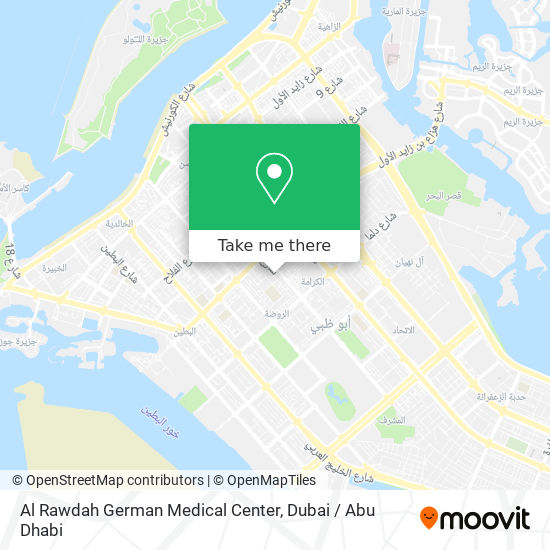 Al Rawdah German Medical Center map