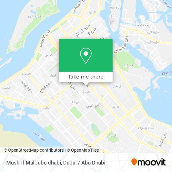 Mushrif Mall, abu dhabi map
