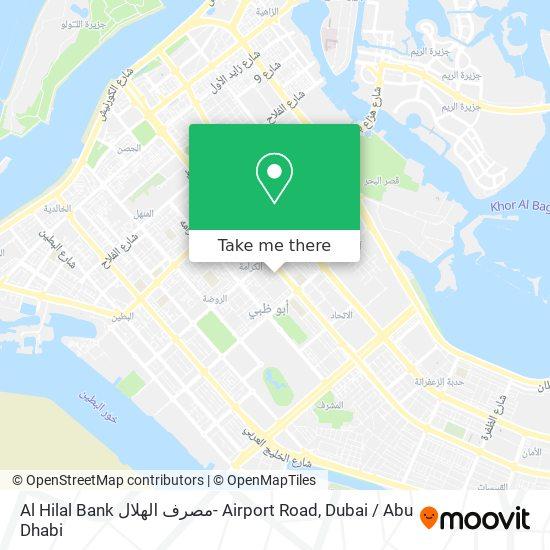 Al Hilal Bank مصرف الهلال- Airport Road map