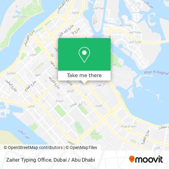 Zaiter Typing Office map
