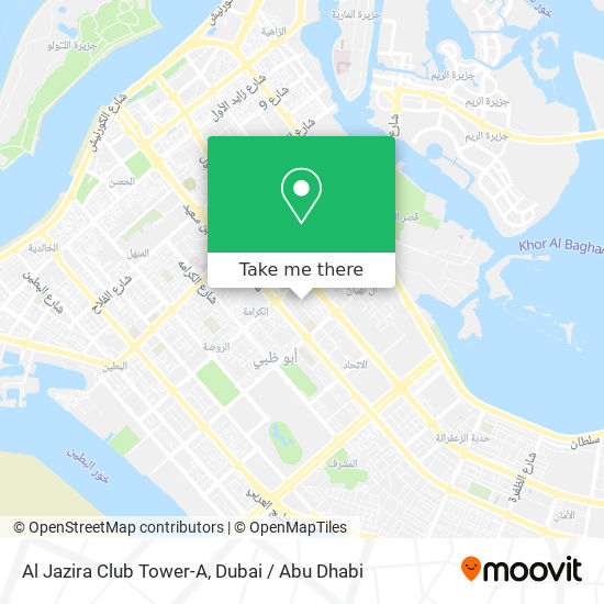 Al Jazira Club Tower-A map
