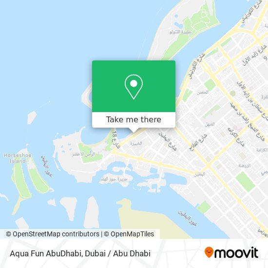 Aqua Fun AbuDhabi map