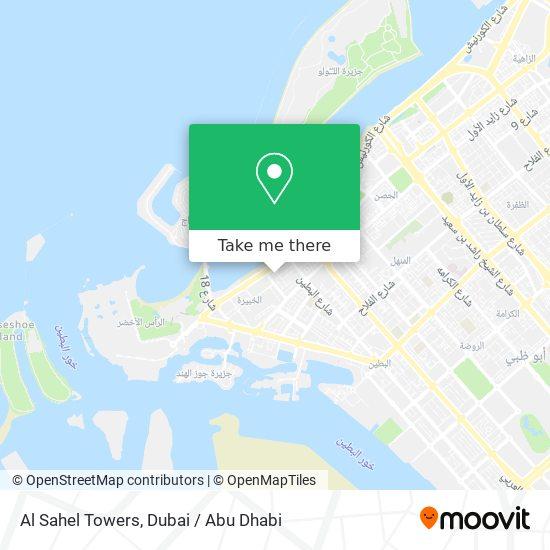Al Sahel Towers map