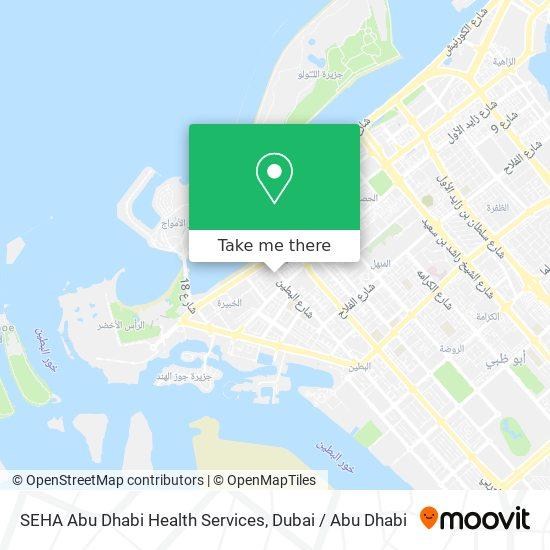 SEHA Abu Dhabi Health Services map