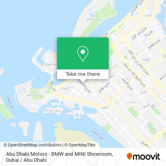 Abu Dhabi Motors - BMW and MINI Showroom map