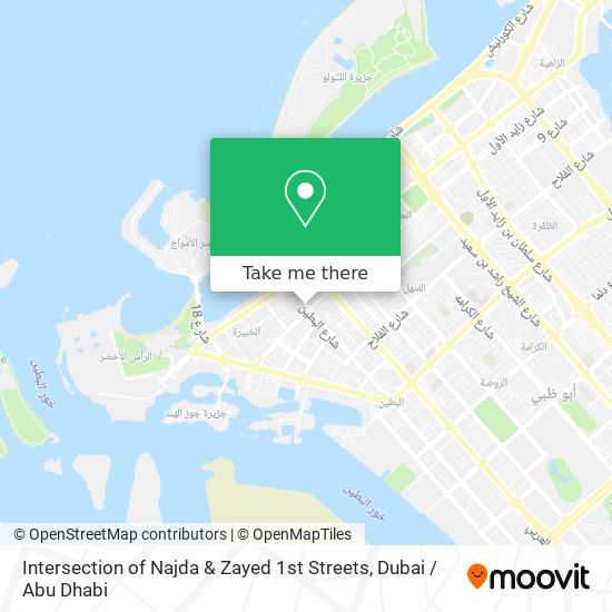 Intersection of Najda & Zayed 1st Streets map