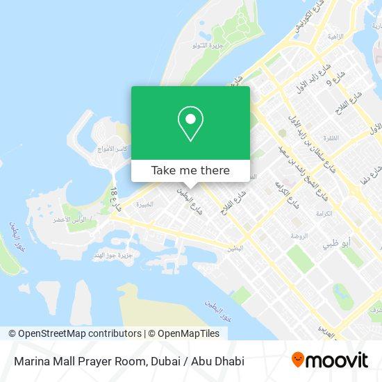 Marina Mall Prayer Room map