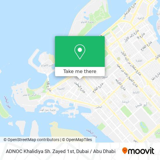 ADNOC Khalidiya Sh. Zayed 1st map