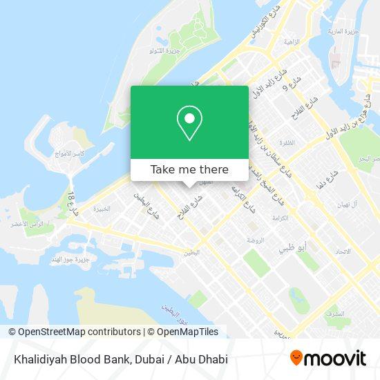 Khalidiyah Blood Bank map