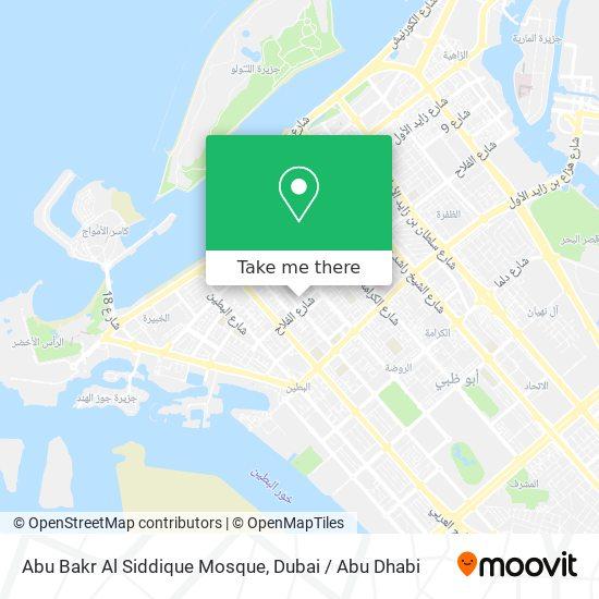 Abu Bakr Al Siddique Mosque map