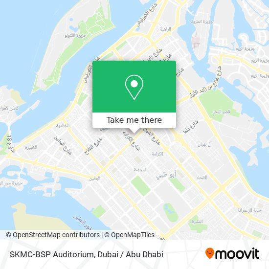 SKMC-BSP Auditorium map