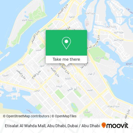 Etisalat Al Wahda Mall, Abu Dhabi map