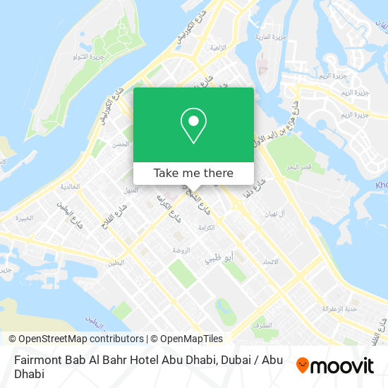 Fairmont Bab Al Bahr Hotel Abu Dhabi map