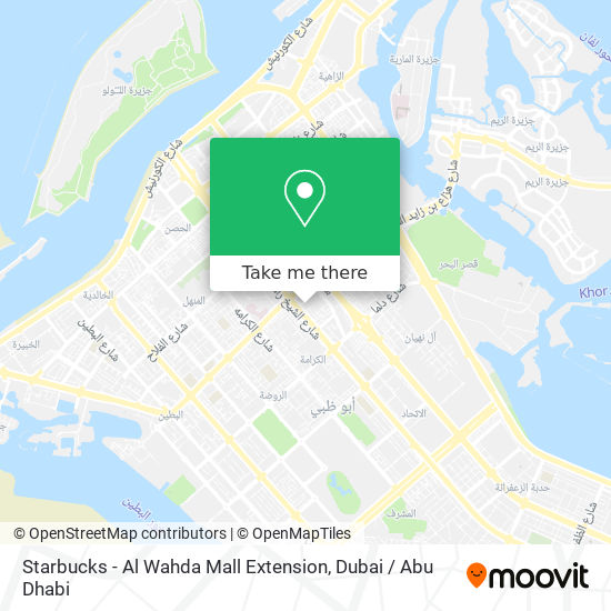 Starbucks - Al Wahda Mall Extension map