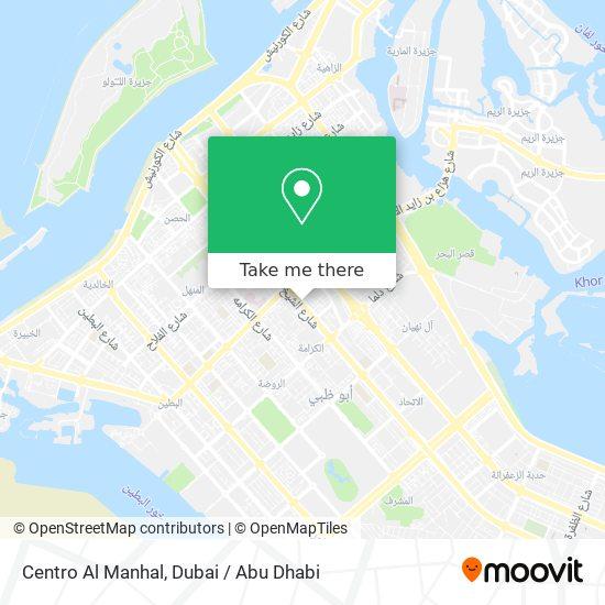 Centro Al Manhal map