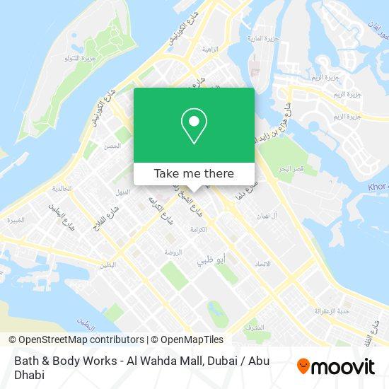 Bath & Body Works - Al Wahda Mall map