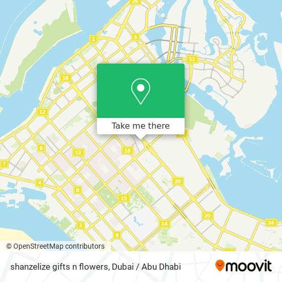 shanzelize gifts n flowers map
