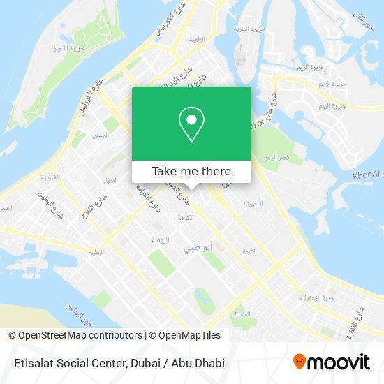 Etisalat Social Center map