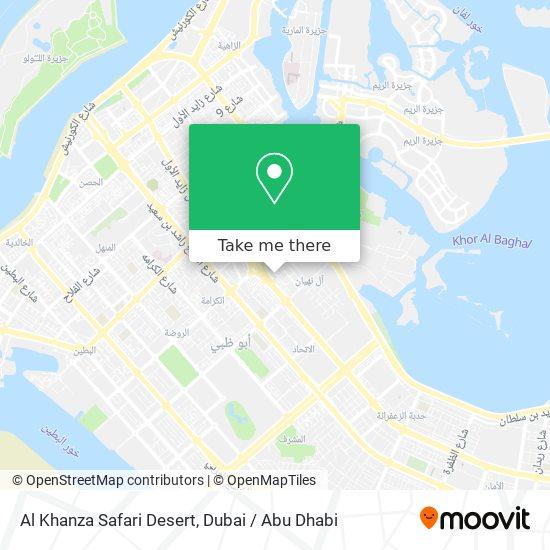 Al Khanza Safari Desert map