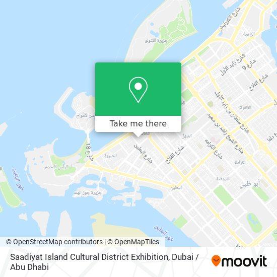 Saadiyat Island Cultural District Exhibition map