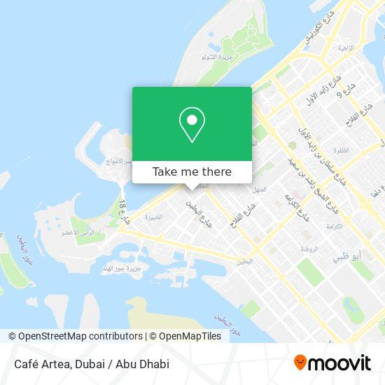 Café Artea map