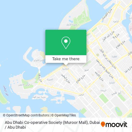 Abu Dhabi Co-operative Society (Muroor Mall) map