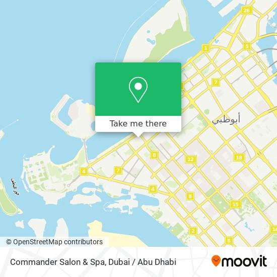 Commander Salon & Spa map