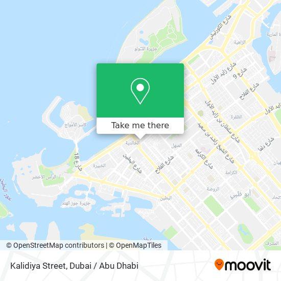 Kalidiya Street map