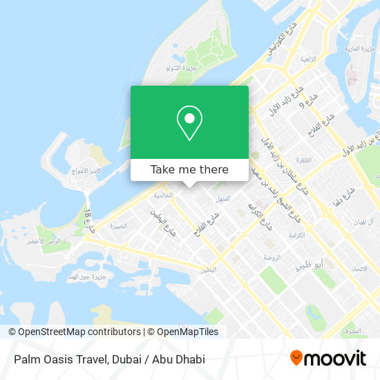 Palm Oasis Travel map