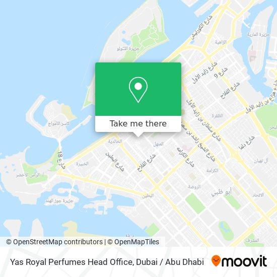 Yas Royal Perfumes Head Office map
