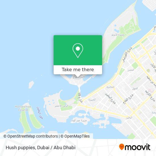 Hush puppies map