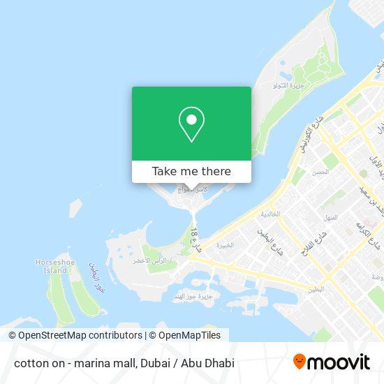 cotton on - marina mall map