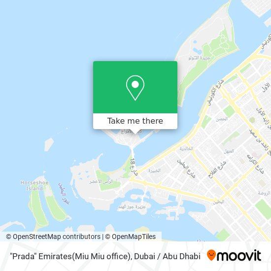 """""""Prada"""" Emirates(Miu Miu office) map"""