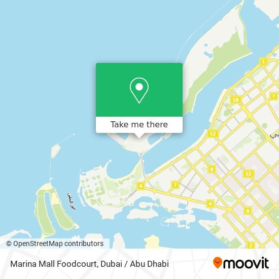 Marina Mall Foodcourt map