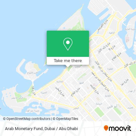 Arab Monetary Fund map