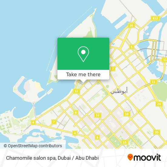 Chamomile salon spa map