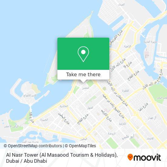 Al Nasr Tower (Al Masaood Tourism & Holidays) map