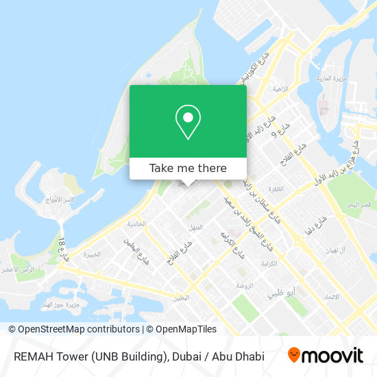REMAH Tower (UNB Building) map