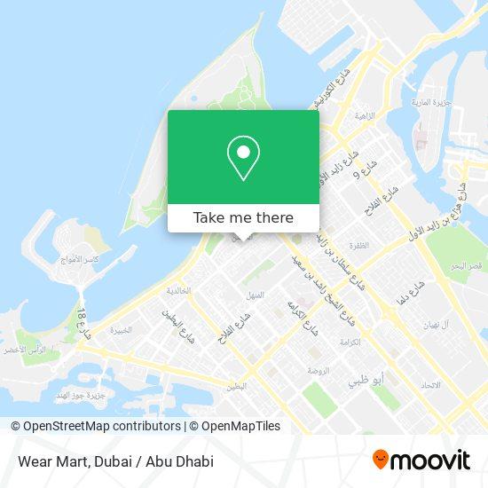 Wear Mart map