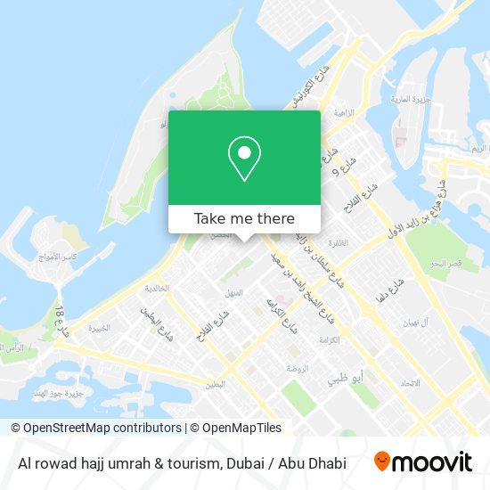 Al rowad hajj umrah & tourism map
