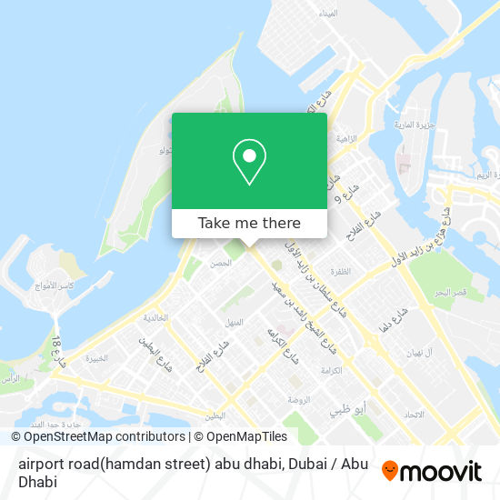 airport road(hamdan street) abu dhabi map