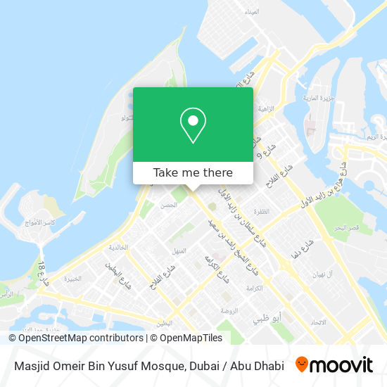 Masjid Omeir Bin Yusuf Mosque map