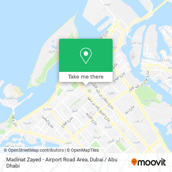 Madinat Zayed - Airport Road Area map