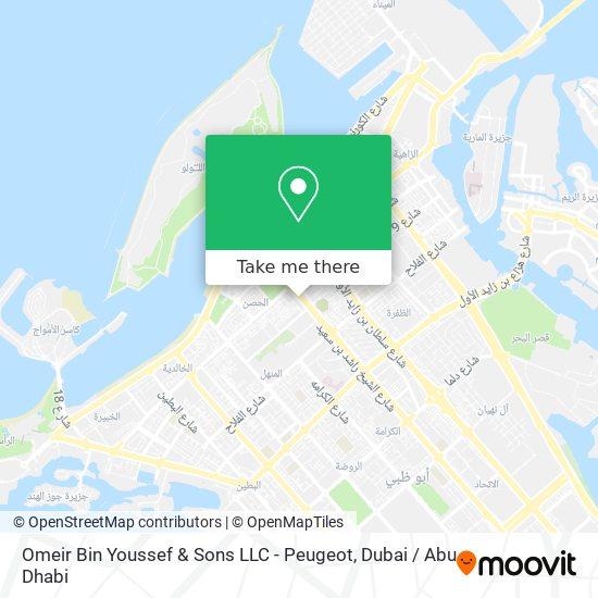 Omeir Bin Youssef & Sons LLC - Peugeot map