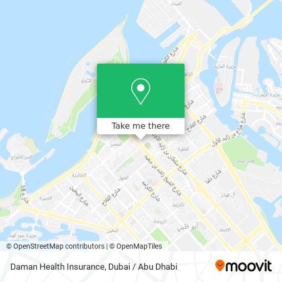 Daman Health Insurance map