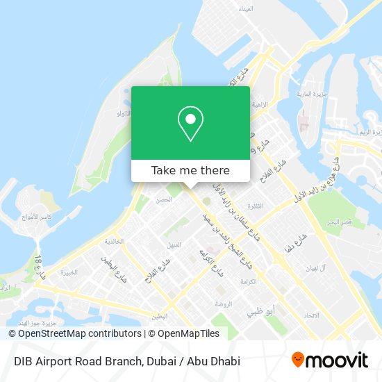 DIB Airport Road Branch map